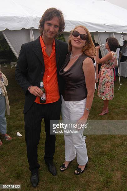 Francesco and Tracey Hummer attend Junko Yoshioka Presents Her Evening Wear Collection at Peter and Nejma Beard Residence on July 16 2005 in Montauk...