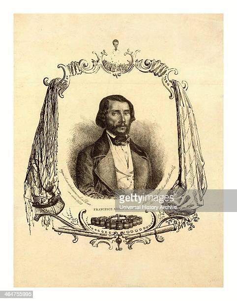 Francesco Arban Di Lione Headandshoulders Portrait Of French Balloonist Francesco Arban Commemorating His Twelfth Flight Includes Items Related To...
