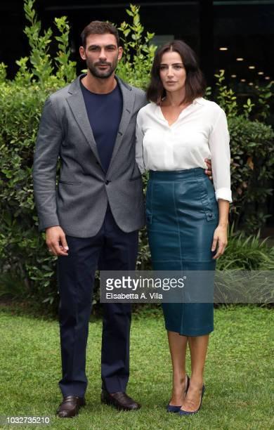 Francesco Arca and Luisa Ranieri attend 'La Vita Promessa' photocall at Rai Viale Mazzini on September 13 2018 in Rome Italy