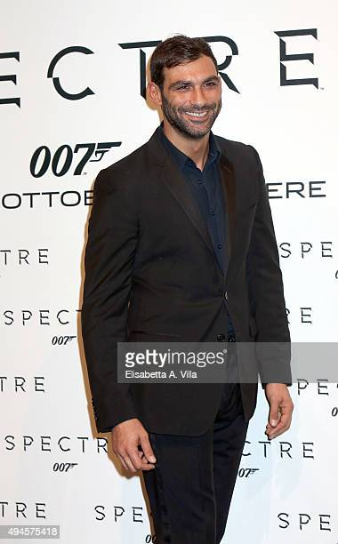 Francesco Arca attends a red carpet for 'Spectre' on October 27 2015 in Rome Italy