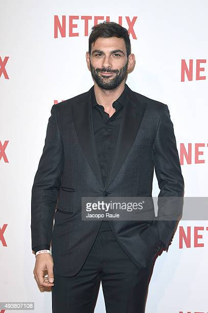 Francesco Arca attends a red carpet for the Netflix launch at Palazzo Del Ghiaccio on October 22 2015 in Milan Italy