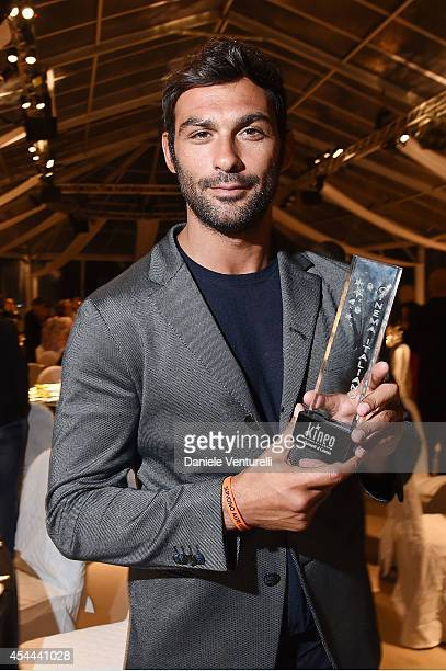Francesco Arca attends Kineo Award Dinner during the 71st Venice Film Festival at Hotel Excelsior on August 31 2014 in Venice Italy