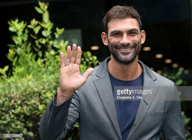 Francesco Arca attends La Vita Promessa photocall at Rai Viale Mazzini on September 13 2018 in Rome Italy