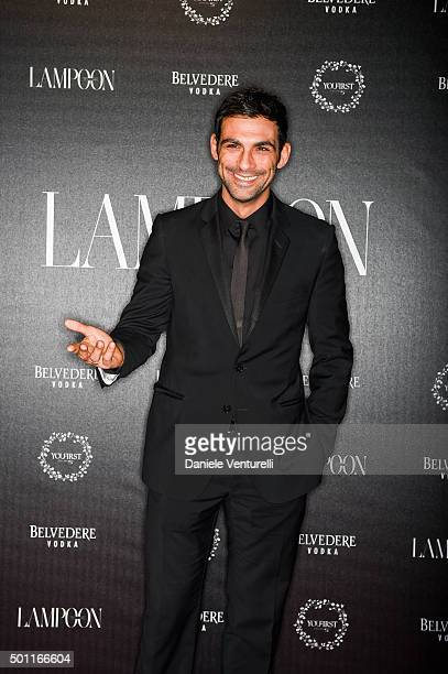 Francesco Arca attends Lampoon First Birthday Event on December 12 2015 in Milan Italy