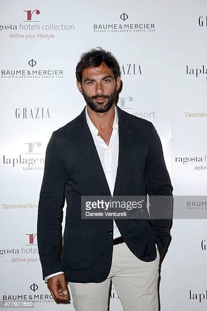 Francesco Arca attends the Baume Mercier and Grazia Gala Dinner 61st Taormina Film Fest on June 20 2015 in Taormina Italy