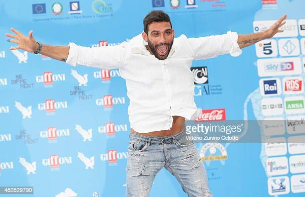 Francesco Arca attends the Giffoni Film Festival photocall on July 22 2014 in Giffoni Valle Piana Italy