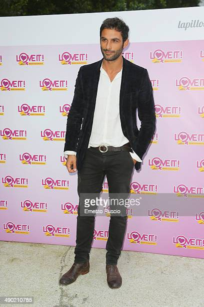 Francesco Arca attends the 'Love It' Campaign For Safe Sex party at Villa Laetitia on May 13 2014 in Rome Italy
