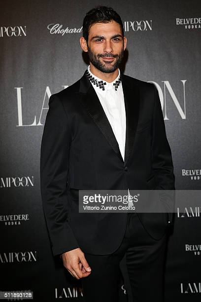 Francesco Arca attends #THE ROYAL PUNK Party By Lampoon on February 23 2016 in Milan Italy
