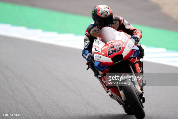 Francesco Bagnaia of Italy and Pramac Racing heads down a straight during the MotoGP of Japan - Free Practice at Twin Ring Motegi on October 18, 2019...