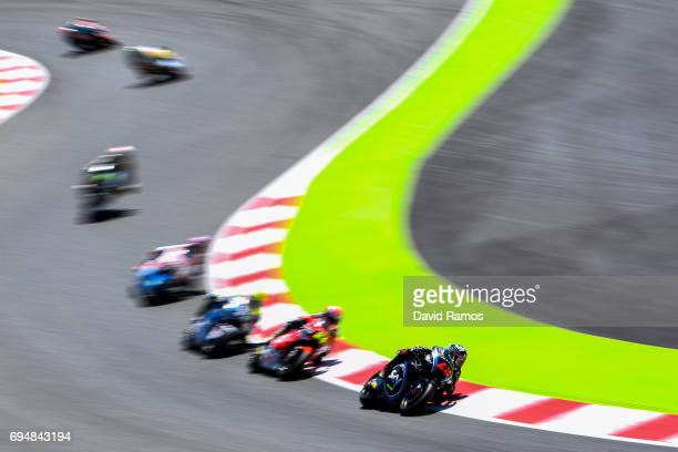 Francesco Bagnaia of Italy and Sky Racing Team VR46 rides during the Moto2 race at Circuit de Catalunya on June 11 2017 in Montmelo Spain