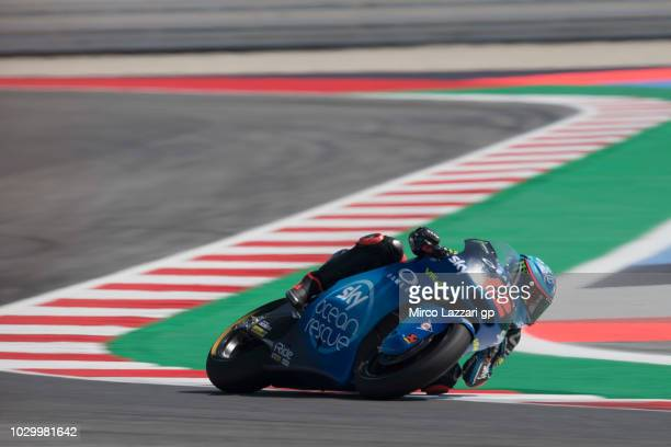 Francesco Bagnaia of Italy and Sky Racing Team VR46 rounds the bend during the Moto2 race during the MotoGP of San Marino Race at Misano World...