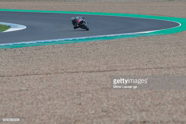 Francesco Bagnaia of Italy and Sky Racing Team VR46 rounds the bend during the Moto2 Moto3 Tests In Jerez at Circuito de Jerez on March 8 2018 in...