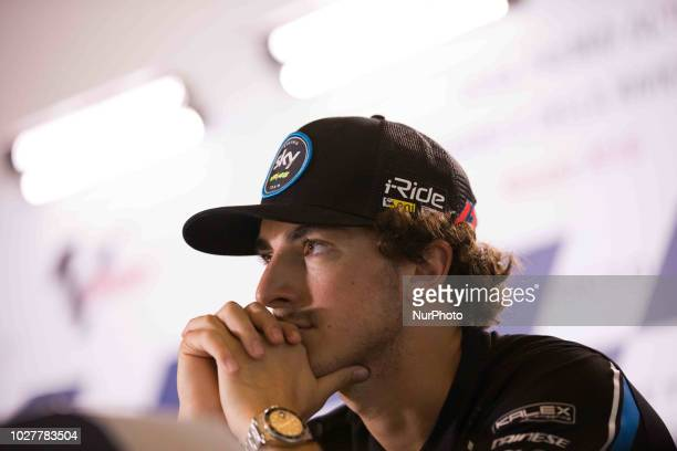 Francesco Bagnaia of SKY Racing Team VR46 during the presentation press conference of the OCTO Grand Prix of San Marino e della Riviera di Rimini at...