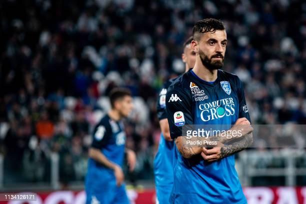 Francesco Caputo of Empoli during the Football Match Juventus FC vs Empoli Juventus won 10 at Allianz Stadium in Turin Italy