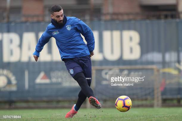 Francesco Caputo of Empoli FC during a training session on December 24 2018 in Empoli Italy