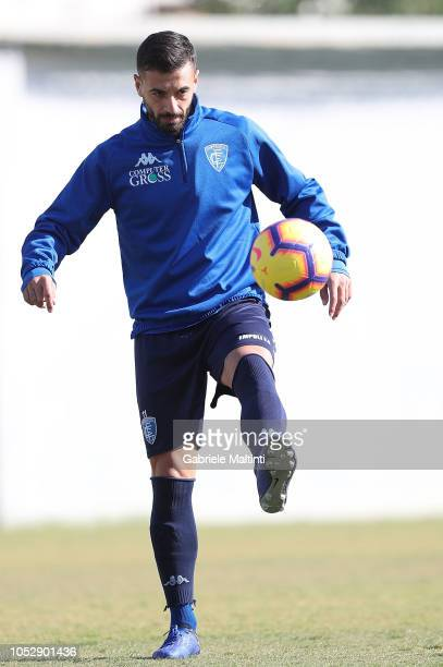 Francesco Caputo of Empoli FC during a training session on October 24 2018 in Empoli Italy