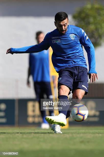 Francesco Caputo of Empoli FC during a training session on October 3 2018 in Empoli Italy