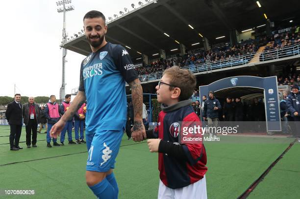 Francesco Caputo of Empoli FC during the Serie A match between Empoli and Bologna FC at Stadio Carlo Castellani on December 9 2018 in Empoli Italy