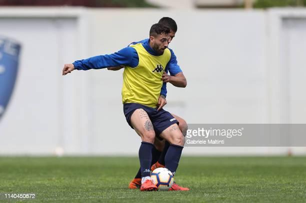 Francesco Caputo of Empoli FC during training session on May 1 2019 in Empoli Italy