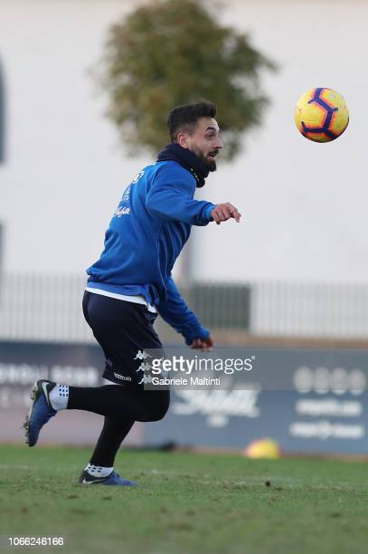 Francesco Caputo of Empoli FC during training session on November 28 2018 in Empoli Italy