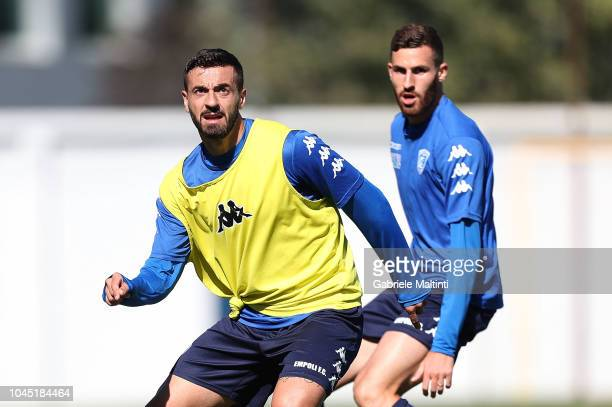 Francesco Caputo of Empoli FC during training session on October 3 2018 in Empoli Italy
