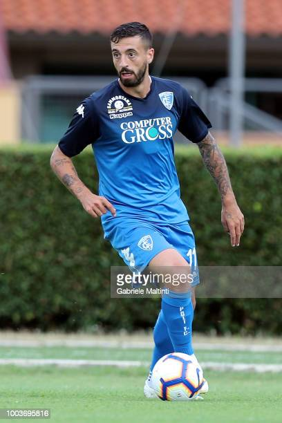 Francesco Caputo of Empoli FC in action during the PreSeason Friendly match between Pro Vercelli and Empoli FC on July 21 2018 in Florence Italy