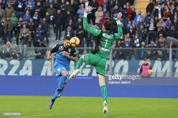 Francesco Caputo of Empoli FC in action during the Serie A match between Empoli and Atalanta BC at Stadio Carlo Castellani on November 25 2018 in...