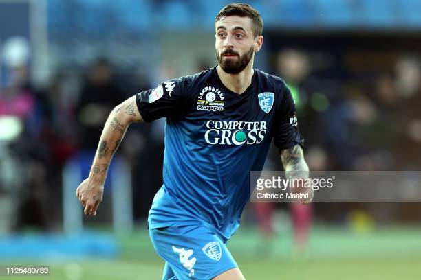 Francesco Caputo of Empoli FC in action during the Serie A match between Empoli and US Sassuolo at Stadio Carlo Castellani on February 17 2019 in...