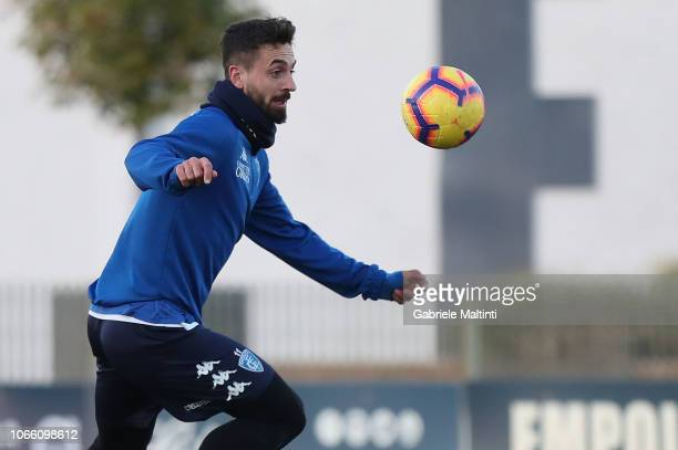 Francesco Caputo of Empoli Fc in action during training session on November 28 2018 in Empoli Italy