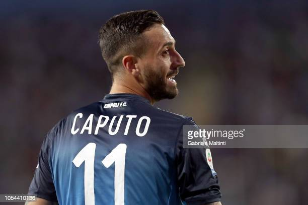 Francesco Caputo of Empoli FC reacts during the Serie A match between Empoli and Juventus at Stadio Carlo Castellani on October 27 2018 in Empoli...