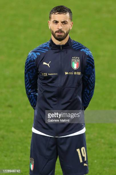 Francesco Caputo of Italy during the international friendly match between Italy and Moldova at Artemio Franchi on October 7, 2020 in Florence, Italy.