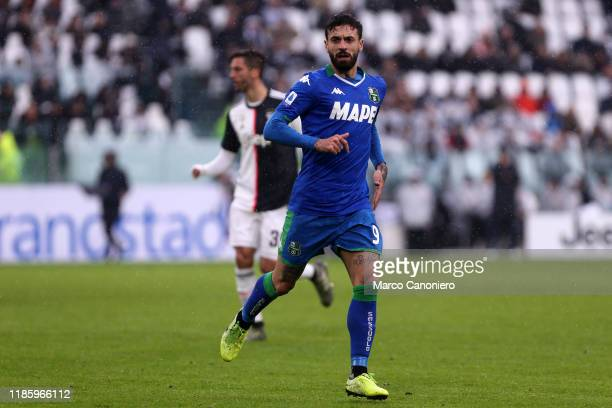 Francesco Caputo of Us Sassuolo Calcio in action during the the Serie A match between Juventus Fc and Us Sassuolo Calcio The match end in a tie 22