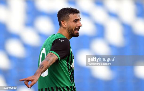 Francesco Caputo of US Sassuolo gestures during the Pre-Season Friendly match between US Sassuolo v Pisa SC at Mapei Stadium - Citta' del Tricolore...