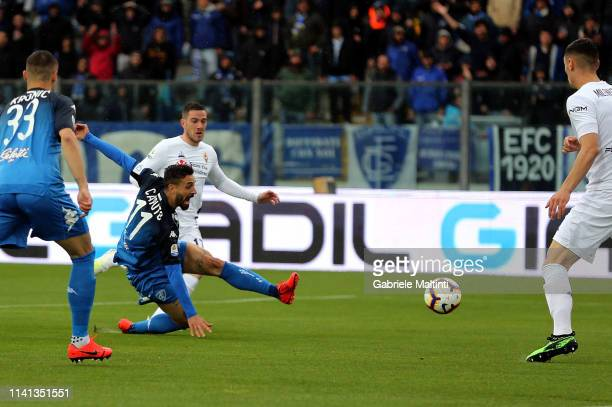 Francesco Caputoof Empoli FC in action during the Serie A match between Empoli and ACF Fiorentina at Stadio Carlo Castellani on May 5 2019 in Empoli...