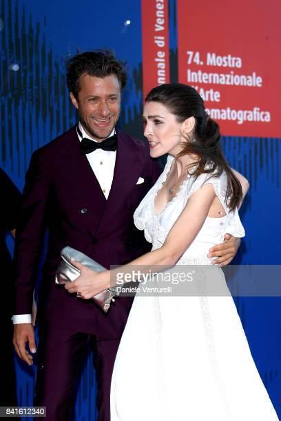 Francesco Carrozzini and Bee Shaffer attend the Franca Sozzani Award during the 74th Venice Film Festival on September 1 2017 in Venice Italy