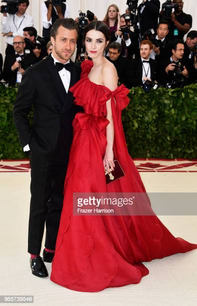 Francesco Carrozzini and Bee Shaffer attend the Heavenly Bodies Fashion The Catholic Imagination Costume Institute Gala at The Metropolitan Museum of...