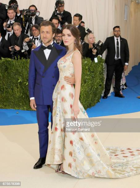 Francesco Carrozzini and Bee Shaffer attend the 'Rei Kawakubo/Comme des Garcons Art Of The InBetween' Costume Institute Gala at Metropolitan Museum...