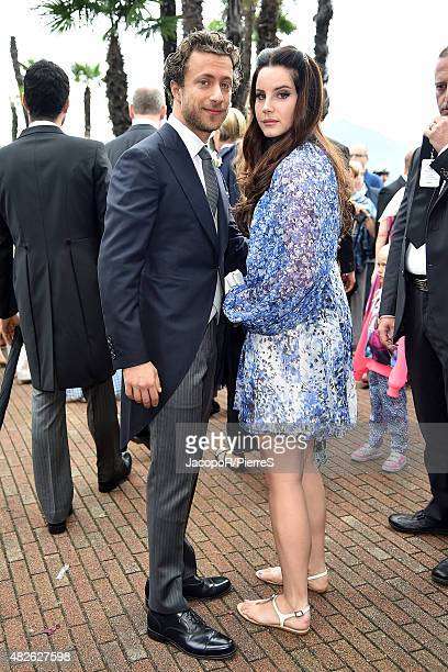 Francesco Carrozzini and Lana Del Rey are seen on August 1 2015 in STRESA Italy