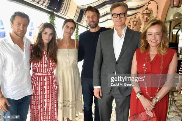 Francesco Carrozzini Bee Shaffer Livia Firth Bart Freundlich Colin Firth and Caroline Scheufele attend an intimate lunch hosted by Livia Firth Carlo...