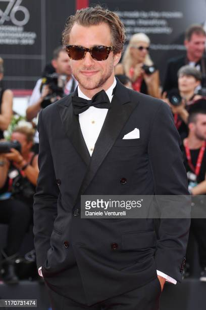 Francesco Carrozzini walks the red carpet ahead of the Opening Ceremony and the La Vérité screening during the 76th Venice Film Festival at Sala...