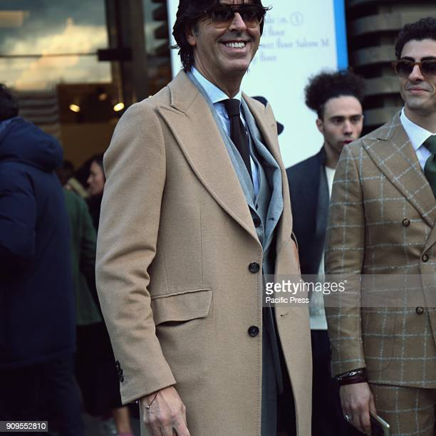 Francesco Celentano on the street during the Pitti 93