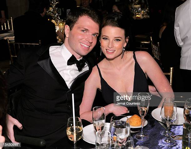Francesco Clark and actress Rachel Nichols attend Christopher Dana Reeve Foundation's A Magical Evening Gala at Cipriani Wall Street on November 30...