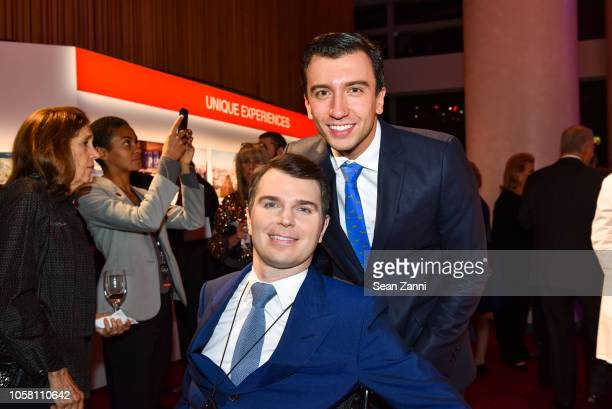 Francesco Clark and Alberto E Mihelcic Bazzana attend The NYSCF Gala And Science Fair at Jazz at Lincoln Center on October 16 2018 in New York City
