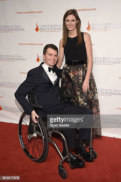 Francesco Clark and Alexandra Reeve Givens attend the Christopher Dana Reeve Foundation hosts 'A Magical Evening' at Cipriani Wall Street on November...