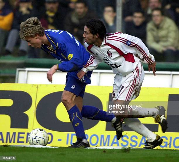 Francesco Coco of AC Milan in action during a SERIE A 11th Round League match between Verona and Milan played at the Marc''Antonio Bentegodi Stadium...