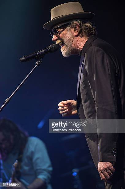 Francesco De Gregori Performs on March 23 2016 in Milan Italy