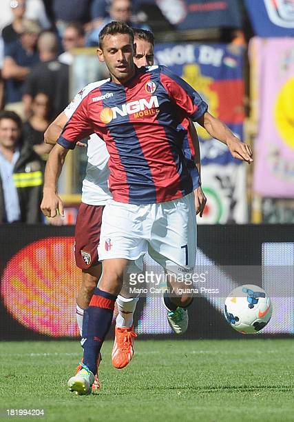 Francesco Della Rocca of Bologna FC in action during the Serie A match between Bologna FC and Torino FC at Stadio Renato Dall'Ara on September 22...