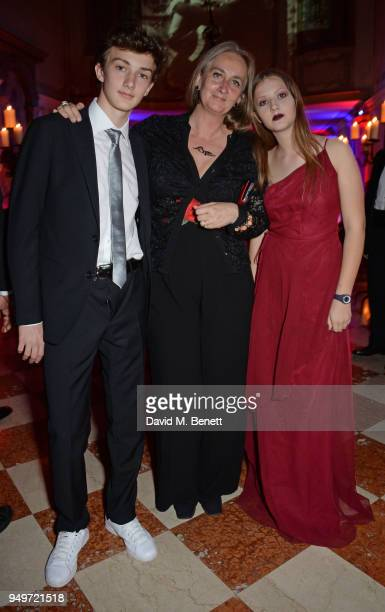 Francesco Dona dalle Rose Chiara Dona dalle Rose and Maria Vittoria Dona dalle Rose attend a party to celebrate Nefer Suvio's birthday hosted by The...