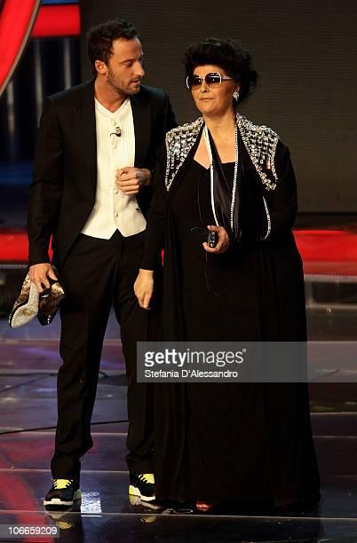 Francesco Facchinetti and Claudia Mori attend X Factor Italian TV Show held at Rai Studios on November 9 2010 in Milan Italy