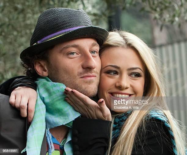 Francesco Facchinetti and Martina Stella attend a photocall for the Italian TV show 'Il Piu Grande' at RAI Viale Mazzini on January 18 2010 in Rome...
